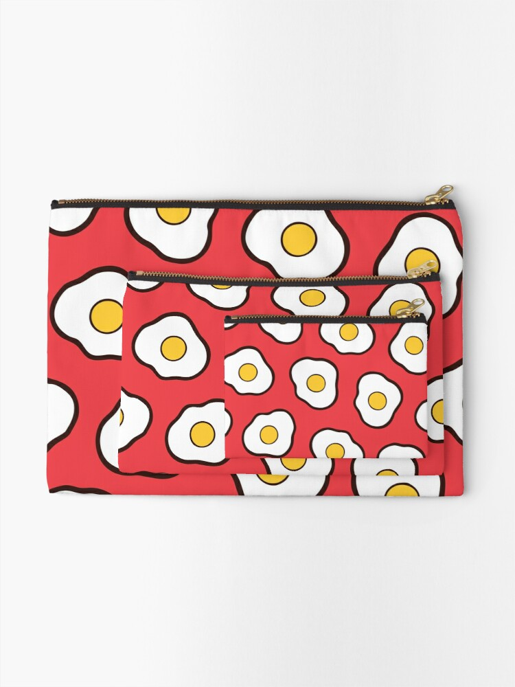 Alternate view of Fried Eggs Pattern Zipper Pouch