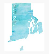 Rhode Island Blue Watercolor Photographic Print