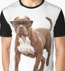 Funny pit bull in glasses Graphic T-Shirt