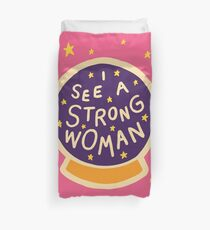 I see a strong woman Duvet Cover