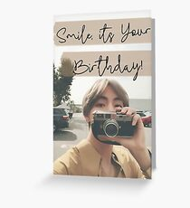 Tarjeta de felicitación Tarjeta de cumpleaños Taehyung
