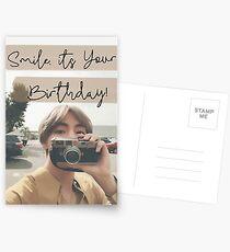 Taehyung-Geburtstags-Karte Postkarten