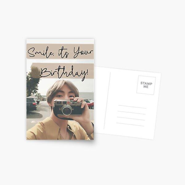 Tarjeta de cumpleaños de Taehyung Postal