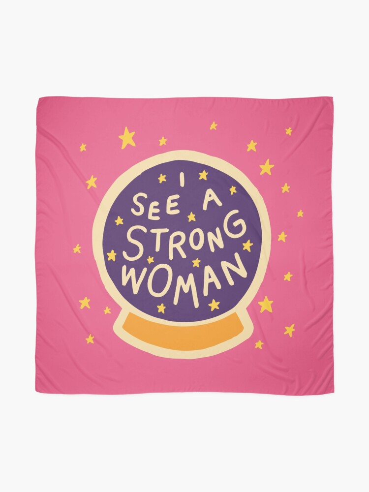 Alternate view of I see a strong woman Scarf
