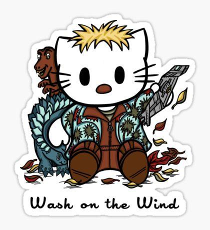 Wash on the Wind Sticker