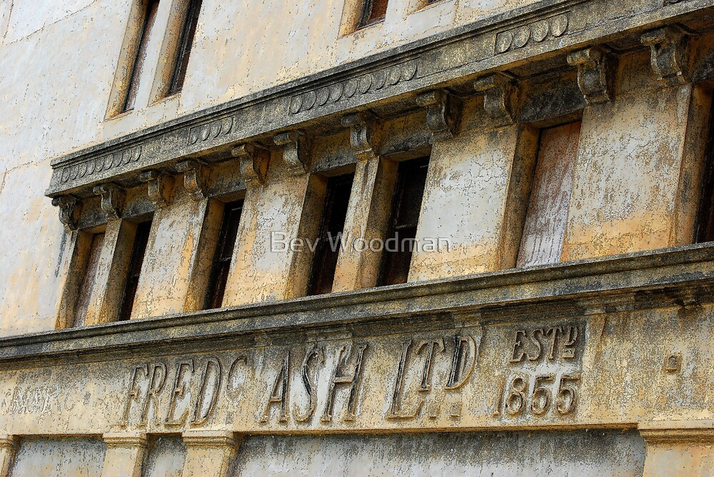 Fred Ash Building circa 1855 - Newcastle NSW by Bev Woodman