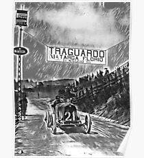 TARGA FLORIO 1921 Version schwarz-weiß Poster