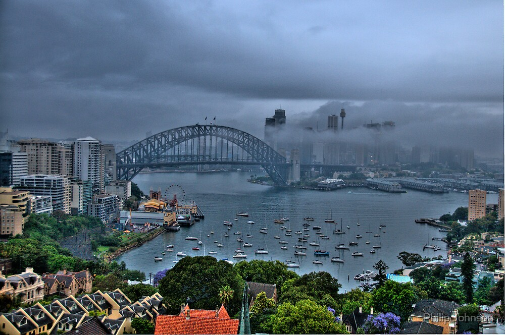 A Foggy Day In Sydney Town - Moods Of A City - The HDR Series by Philip Johnson