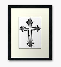 Justin Bieber Tattoo cross Framed Print