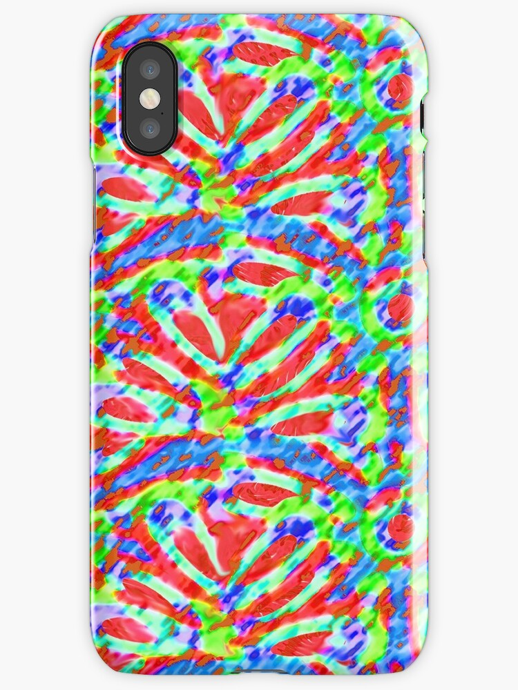 Abstract Rainbow Floral Pattern by Orla Cahill