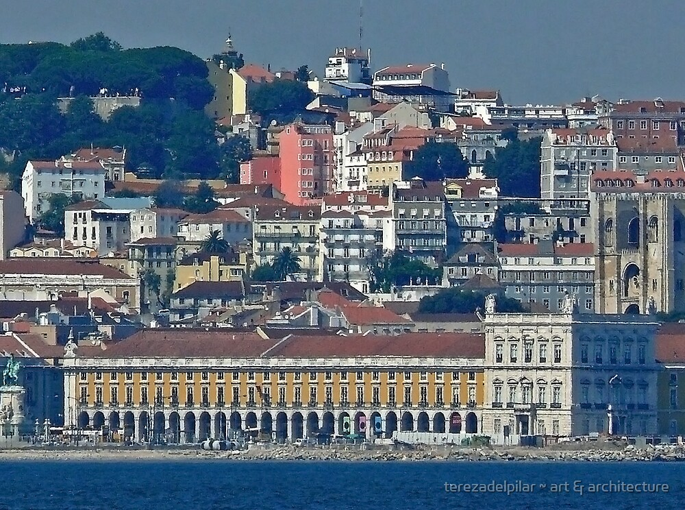 Lisbon. view from Tejo river. by terezadelpilar ~ art & architecture