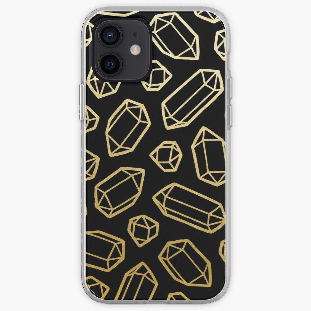 Gold and Black Gemstone Pattern iPhone Case & Cover