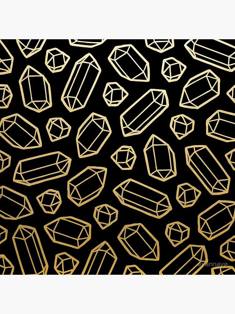 Gold and Black Gemstone Pattern by evannave