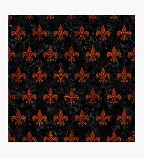 ROYAL1 BLACK MARBLE & REDDISH-BROWN LEATHER Photographic Print