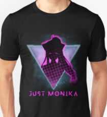 Just Monika Doki Doki Literature Club Futuristic 80s Unisex T-Shirt