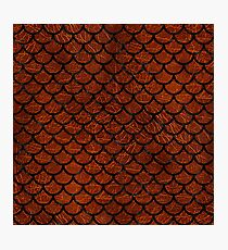 SCALES1 BLACK MARBLE & REDDISH-BROWN LEATHER Photographic Print