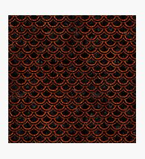 SCALES2 BLACK MARBLE & REDDISH-BROWN LEATHER (R) Photographic Print