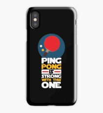 Table TennisDesign Ping Pong Is Strong With This One iPhone Case/Skin