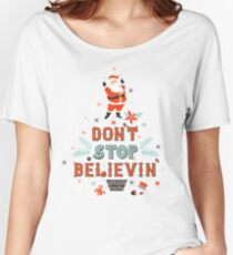 Beautiful funny artwork with Santa Women's Relaxed Fit T-Shirt