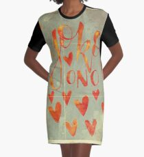 YOKO ONO ATE MY HEART Graphic T-Shirt Dress