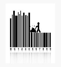 Concept in Barcode  Photographic Print