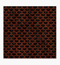 SCALES3 BLACK MARBLE & REDDISH-BROWN LEATHER (R) Photographic Print