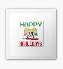 HAPPY HARLIDAYS Framed Print