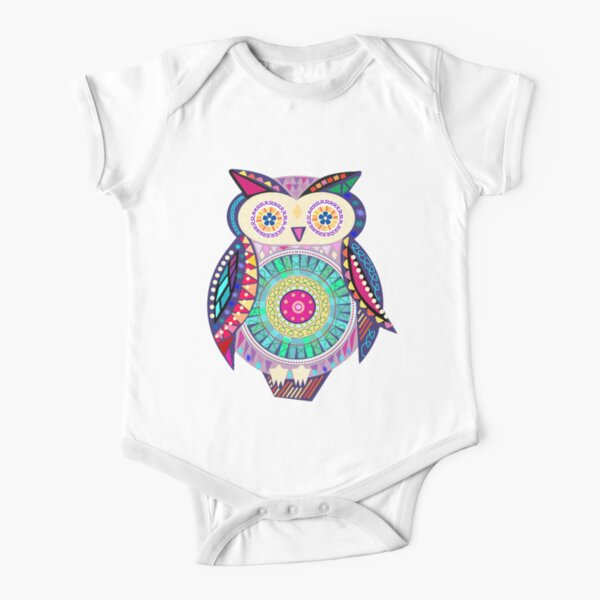 Carnival Owl Short Sleeve Baby One-Piece