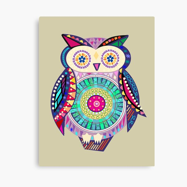 Carnival Owl Canvas Print