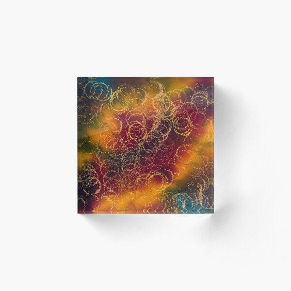 Colorful Circles Acrylic Block