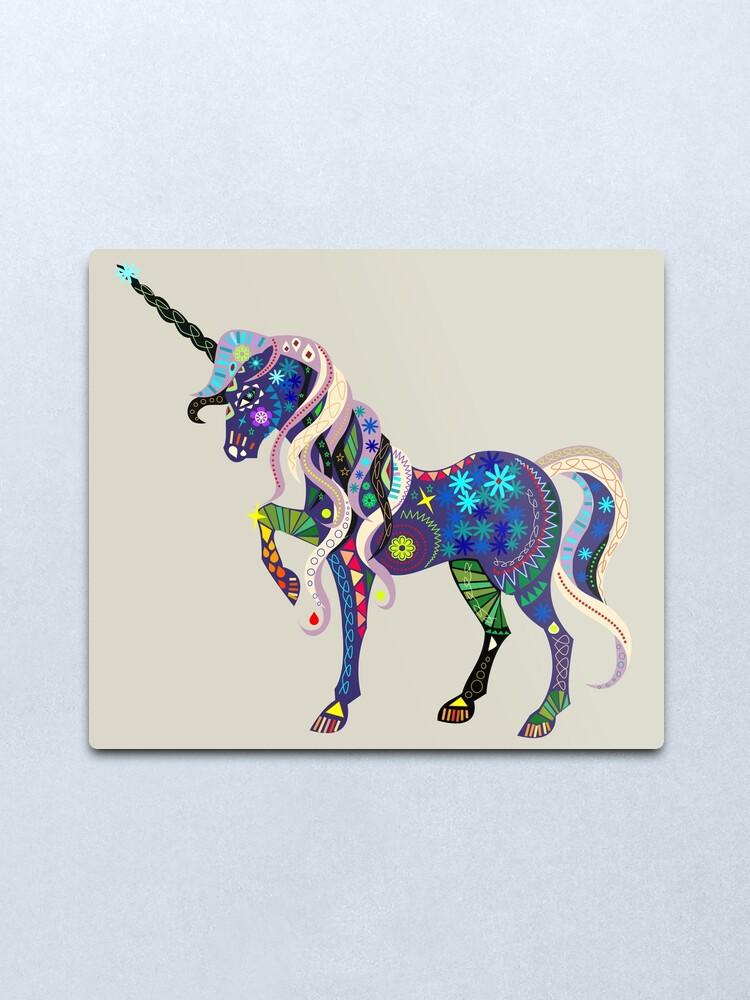Alternate view of Carnival Unicorn Metal Print