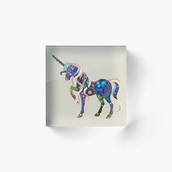 Carnival Unicorn Acrylic Block