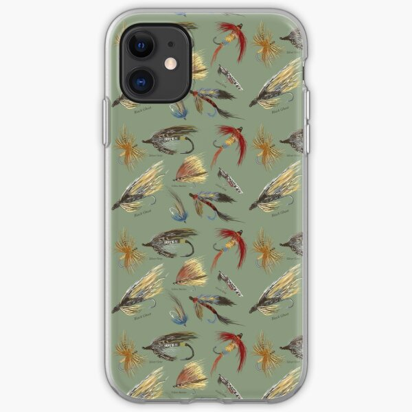Fly Fishing with Hand Tied flies! iPhone Soft Case