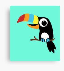 Toucan Cartoon - Bright Fun Colours Canvas Print