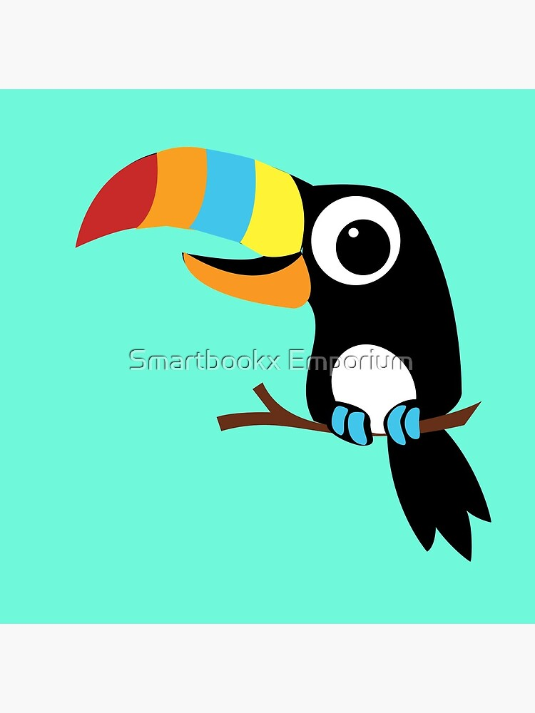 Toucan Cartoon - Bright Fun Colours by FionaHolt