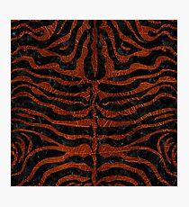 SKIN2 BLACK MARBLE & REDDISH-BROWN LEATHER (R) Photographic Print