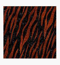 SKIN3 BLACK MARBLE & REDDISH-BROWN LEATHER (R) Photographic Print