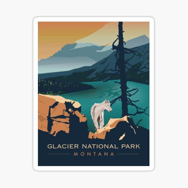 Glacier National Park - Scenic Overlook  Sticker