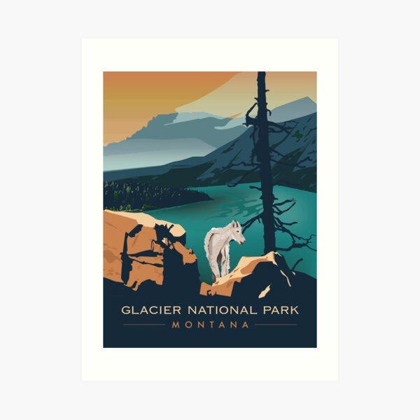 Glacier National Park - Scenic Overlook  Art Print