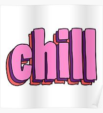 Chill 3D Handdrawn - Cute Chill Hipster Sticker T-Shirt Pillow Poster