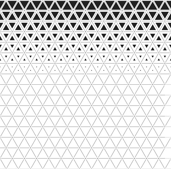 triangle gradient grid pattern posters by seantheprawn redbubble
