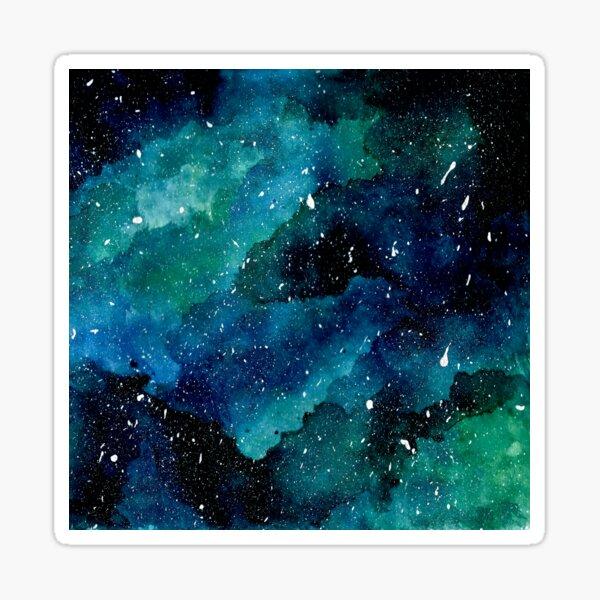 Emerald Galaxy Sticker