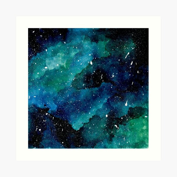 Emerald Galaxy Art Print