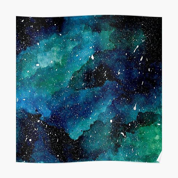 Smaragd-Galaxie Poster