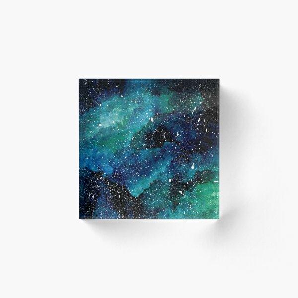 Emerald Galaxy Acrylic Block
