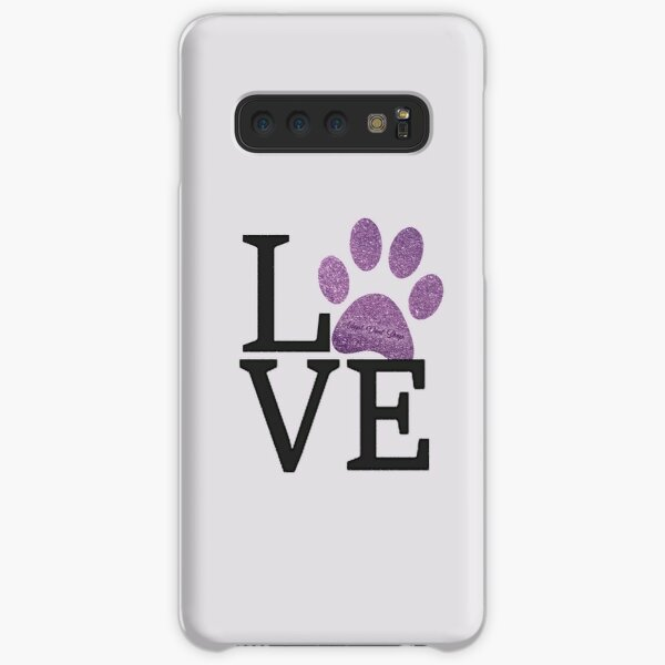 Love is a Four Letter Word - Purple Paw Print Samsung Galaxy Snap Case