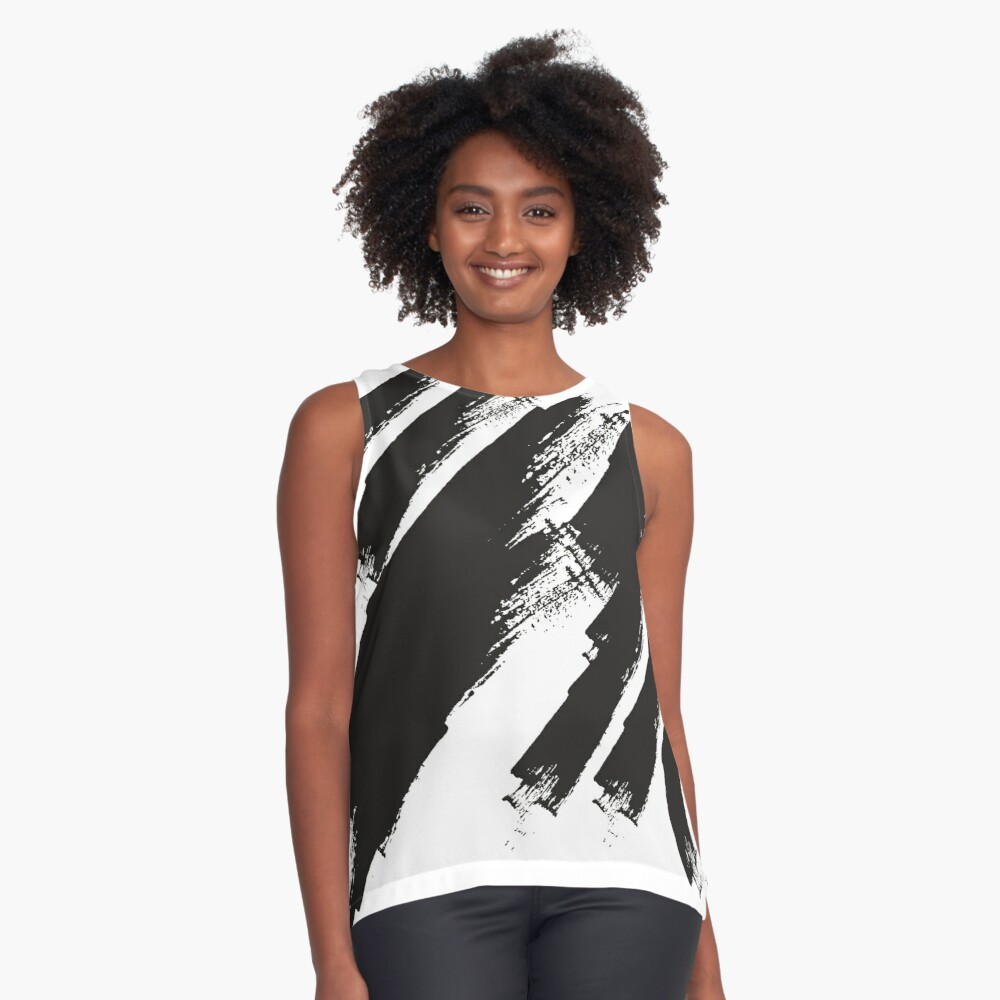 abstract brushstroke  Contrast Tank Front