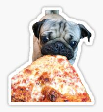 Pug with Pizza Slice Sticker