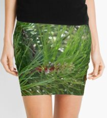 Long Pine Needles Mini Skirt