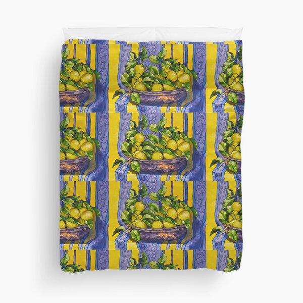 'Provence lemons in a copper bowl'.  Duvet Cover
